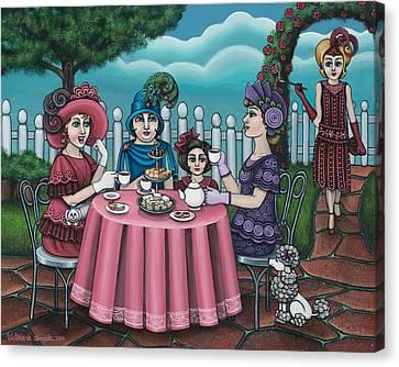 The Tea Party Canvas Print by Victoria De Almeida