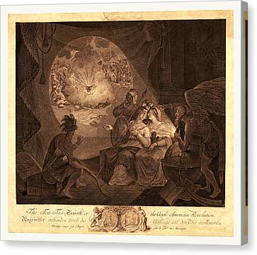 The Tea-tax-tempest, Or The Anglo-american Revolution Canvas Print