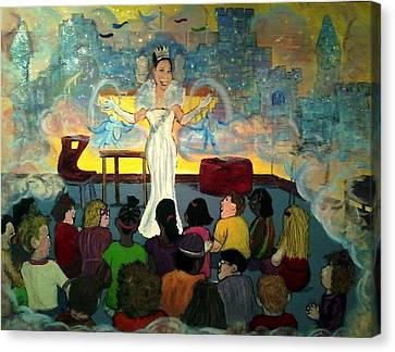 the teachings of Aroura Canvas Print by Richard  Hubal