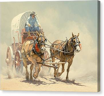 Cowboys Canvas Print - The Team by Paul Krapf