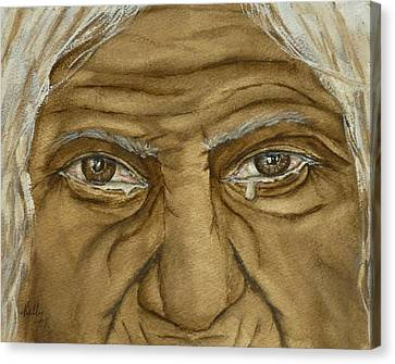 The Tears Of Wisdom Canvas Print by Kelly Mills
