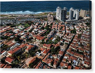 Canvas Print featuring the photograph the Tel Aviv charm by Ron Shoshani