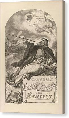 The Tempest Canvas Print by British Library