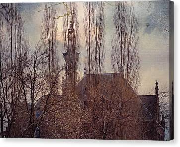 The Temple Bell Dies Away 2. Pink Spring In Amsterdam Canvas Print by Jenny Rainbow