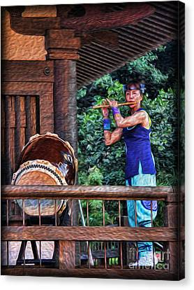 The Temple Flutist Canvas Print