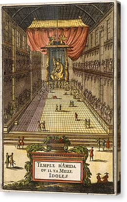 The Temple Of Amida, From Description Canvas Print