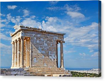 The Temple Of Athena Nike - Greece Canvas Print by Constantinos Iliopoulos