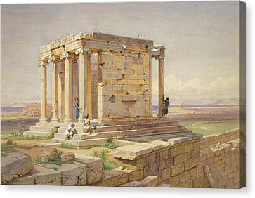 Nike Canvas Print - The Temple Of Athena Nike. View From The North-east by Carl Werner