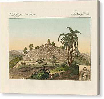 The Temple Of Buddha Of Borobudur In Java Canvas Print by Splendid Art Prints