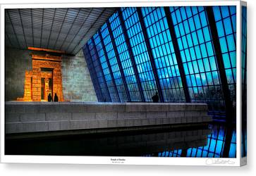 The Temple Of Dendur Canvas Print by Lar Matre