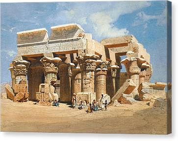 The Temple Of Kom Ombo Canvas Print by Carl Werner