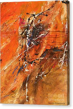 The Temptation -abstract Art Canvas Print by Ismeta Gruenwald