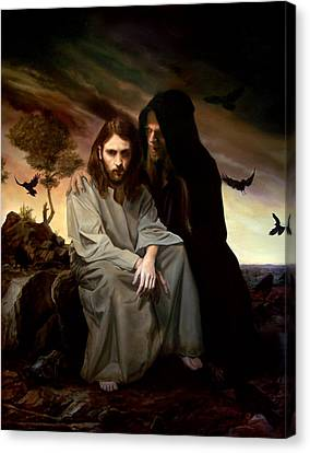 The Temptation Of Christ Canvas Print by Eric  Armusik