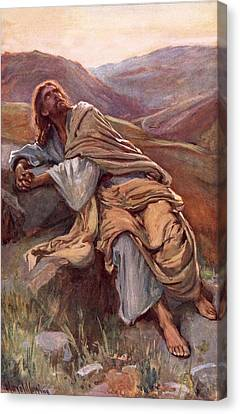 The Temptation Of Christ Canvas Print by Harold Copping
