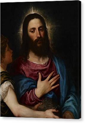 The Temptation Of Christ Canvas Print by Titian
