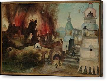 The Temptation Of Saint Anthony Canvas Print by Workshop of Herri met de Bles