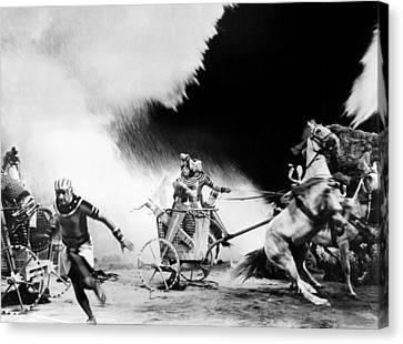 1956 Movies Canvas Print - The Ten Commandments, 1956 by Everett