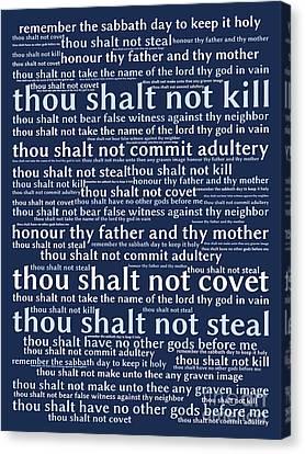 The Ten Commandments 20130625bwco80 Canvas Print