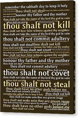 The Ten Commandments 20130625bwmwa85 Canvas Print