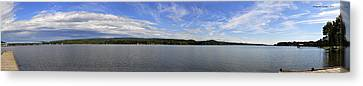 The Tennessee River In Alabama Canvas Print by Verana Stark