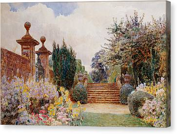 The Terrace Steps, Penshurst, 1903 Canvas Print by George Samuel Elgood