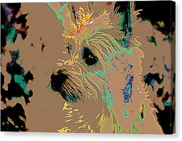 The Terrier Canvas Print by Lynn Sprowl