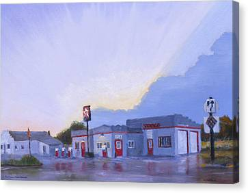 The Texaco In Potter Canvas Print by Jerry McElroy