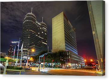 The Texas Medical Center At Night Canvas Print by Tim Stanley