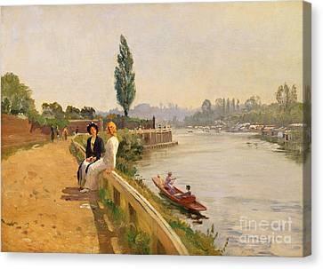The Thames At Hampton Court Canvas Print