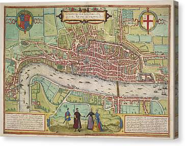 The Thames Canvas Print by British Library
