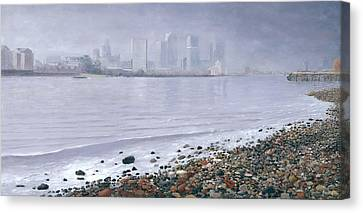 The Thames From Lowell's Wharf Greenwich  Canvas Print