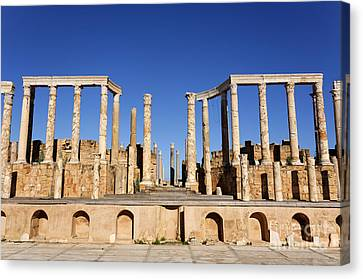The Theatre At Leptis Magna In Libya Canvas Print by Robert Preston