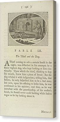 The Thief And The Dog Canvas Print by British Library