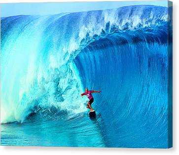 Kelly Slater Canvas Print - The Thin Blue Line by Dominic Piperata