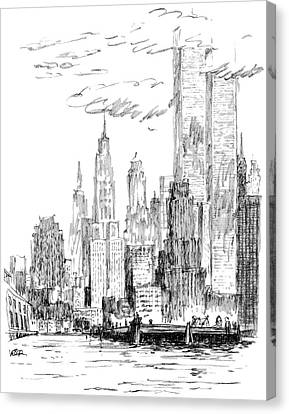 The Thing I Like About New York Canvas Print by Robert Weber