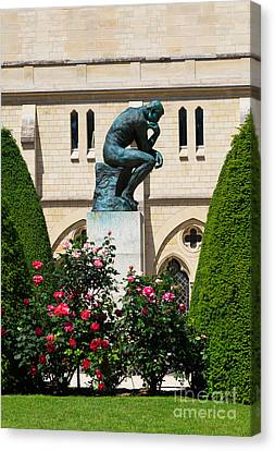The Thinker By Auguste Rodin Canvas Print by Louise Heusinkveld