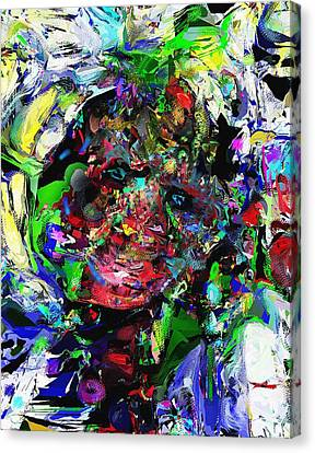 Canvas Print featuring the digital art The Thinker by David Lane