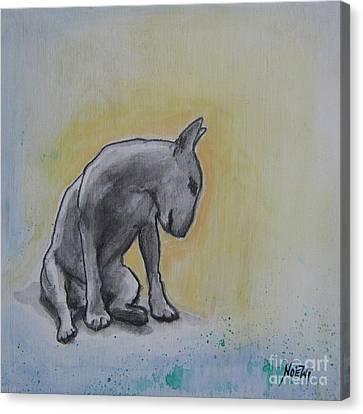 The Thinker Canvas Print by Jindra Noewi