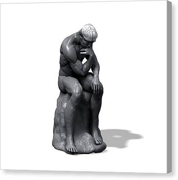 The Thinker Canvas Print by Juan Gaertner