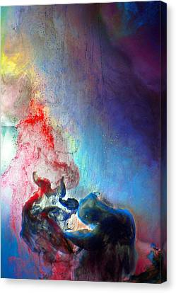 The Thinker Canvas Print by Petros Yiannakas