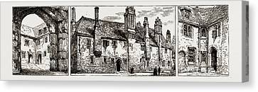 Threatening Canvas Print - The Threatened Demolition Of The Charterhouse by Litz Collection