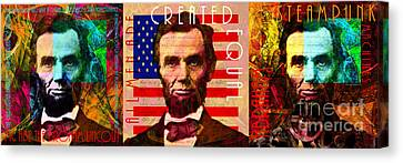 The Three Abes 20140218 Canvas Print by Wingsdomain Art and Photography