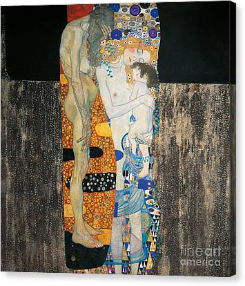 The Three Ages Of Woman Canvas Print by Gustav Klimt