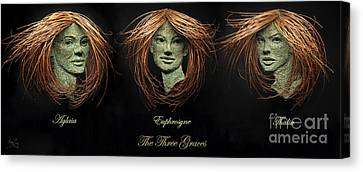 The Three Graces Canvas Print by Adam Long