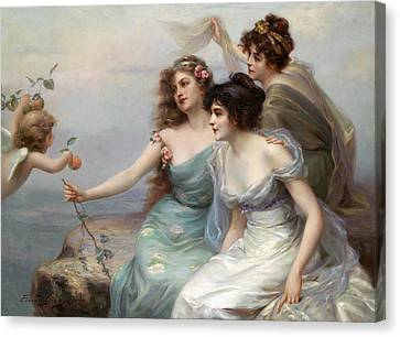 The Three Graces Canvas Print by Edouard Bisson