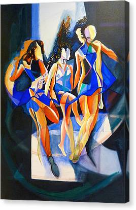 The Three Graces Canvas Print by Georg Douglas