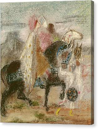 The Three Magi, Started In 1860 And Reworked After 1882 Pastel On Paper Canvas Print