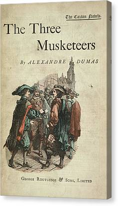 Conversing Canvas Print - The Three Musketeers by British Library