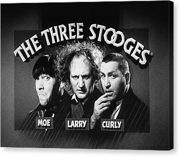1960 Movies Canvas Print - The Three Stooges Opening Credits by Official Three Stooges