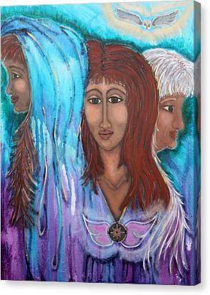 The Three Canvas Print